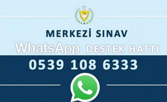 '0539 108 63 33' Numaralı merkezi sınav Whatsapp destek hattı devrede