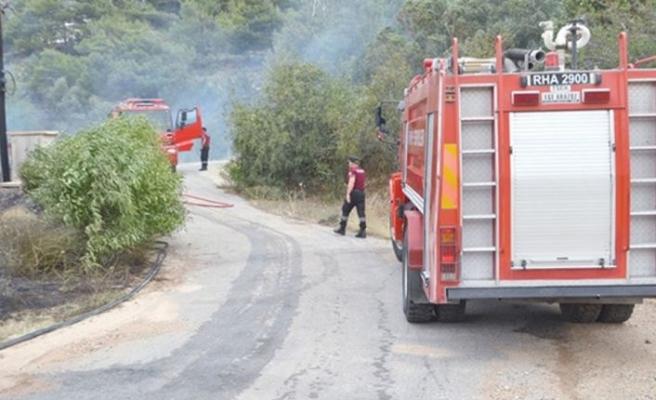 Trafosundan çıkan kıvılcım yangına neden oldu