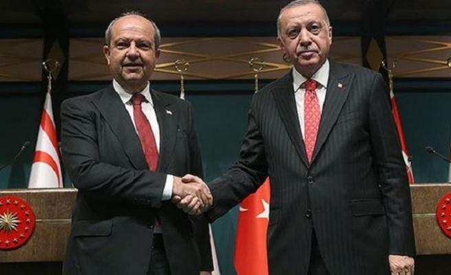 Başbakan Tatar ile TC Cumhurbaşkanı Erdoğan bayramlaştı