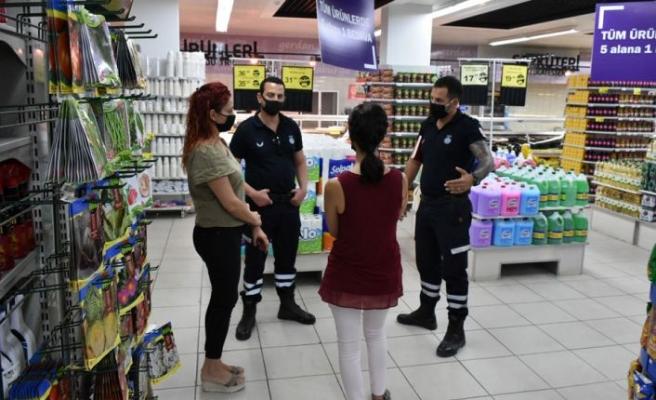 Girne'de market ve kafeler denetlendi