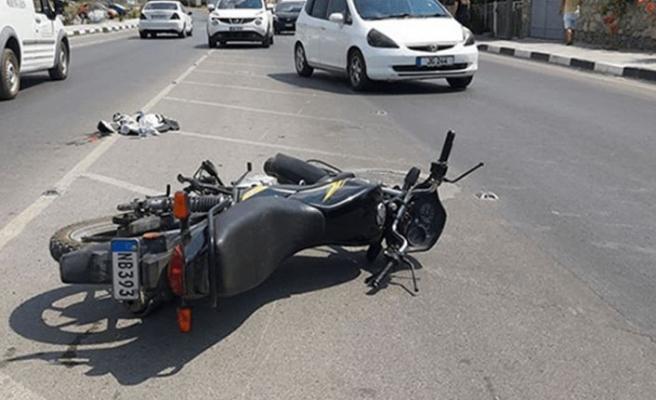Lefkoşa'da motor kazası, 1 yaralı