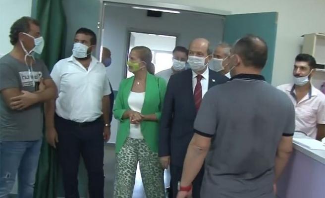 Tatar, Gazimağusa Devlet Hastanesini ziyaret etti