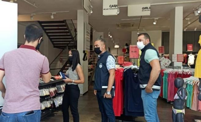 Polis Lefkoşa'da iş yerlerini denetledi
