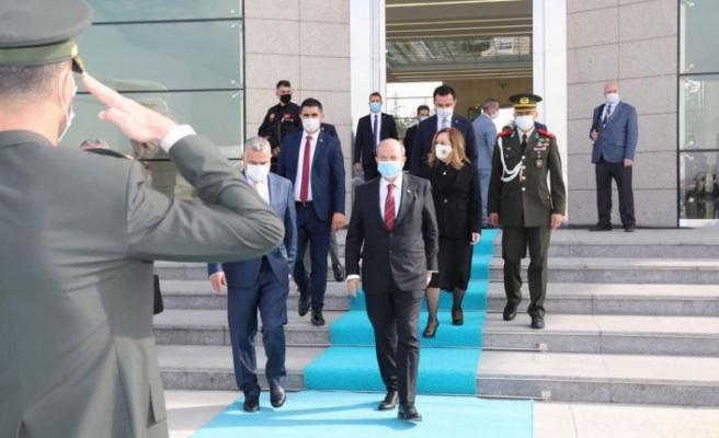 Cumhurbaşkanı Tatar, KKTC'ye hareket etti