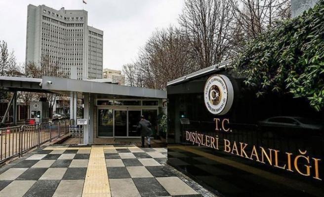 TC Dışişleri Bakanlığın'dan Yunanistan'a tepki