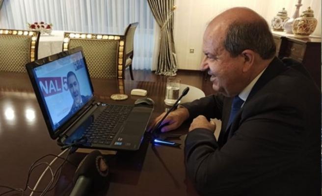 Cumhurbaşkanı Tatar Azerbaycan Tv 5 Haber kanalına konuştu