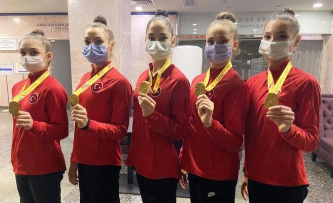 Kadın Ritmikçiler Avrupa Şampiyonu