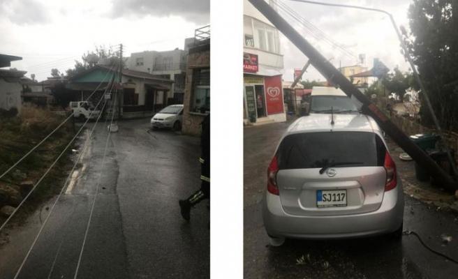 Ozanköy'de hortum zarara yol açtı