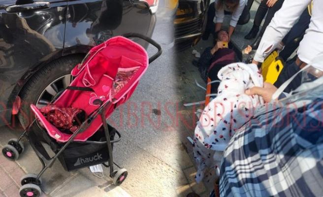 Arabanın çarptığı 18 aylık  bebek yaşam savaşı veriyor