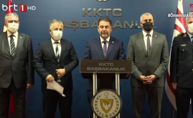 Başbakan Ersan Saner, Bulaşıcı Hastalıklar Üst Komitesi tarafından alınan kararların ardından açıklama yaptı...