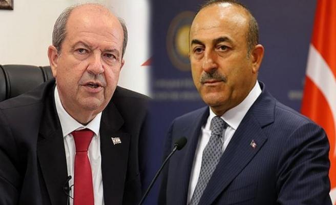 TC Dışişleri Bakanı Çavuşoğlu, Cumhurbaşkanı Tatar ile telefonda görüştü