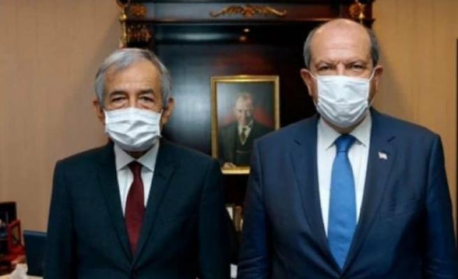 Cumhurbaşkanı Ersin Tatar, Hüseyin Erdal'ı kabul etti