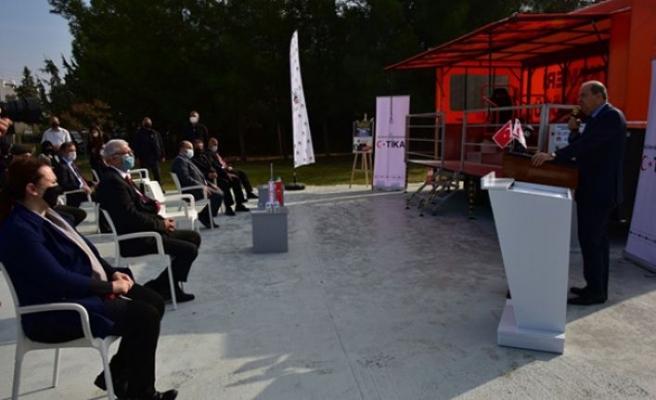 """Emniyet kemeri eğitim simülatörü tanıtıldı... Cumhurbaşkanı Tatar: """"Herkes emniyet kemerini takmalı"""""""