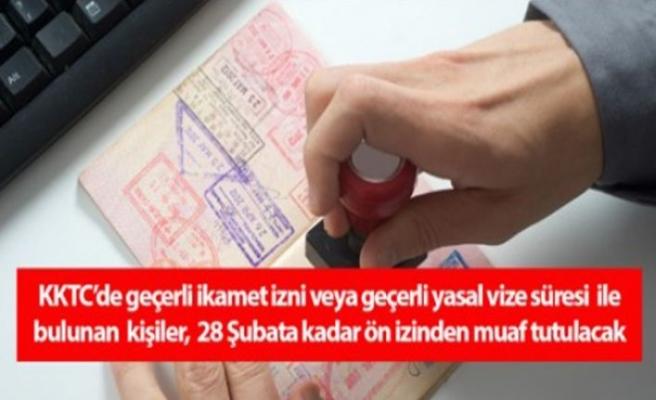 Vize süresi bitmemiş çalışanlar işlemlerini 28 Şubat'a kadar ön izinden muaf yaptırabilecek