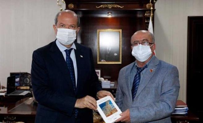Cumhurbaşkanı Tatar, gazeteci Azizoğlu'nu kabul etti