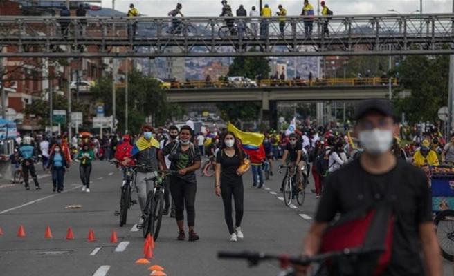 Kolombiya'da hükümete yönelik protestolar 22. gününde devam ediyor