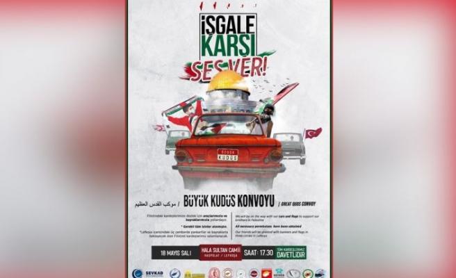 Lefkoşa'da Filistin'e destek gösterisi yapılacak