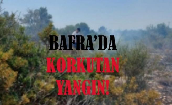 Bafra'da korkutan yangın!