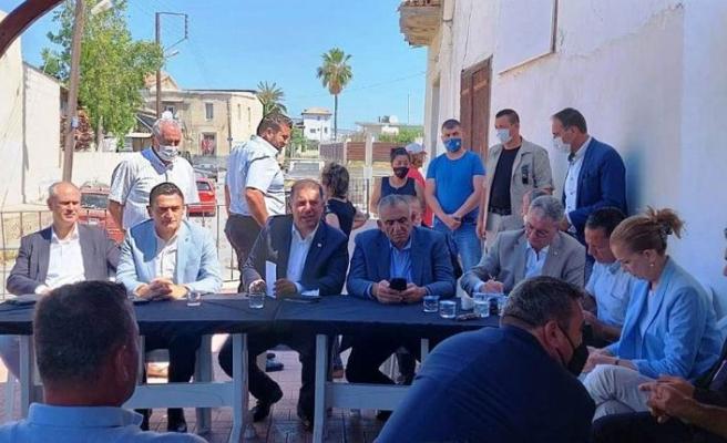 Başbakan Saner, Geçitkale ve Serdarlı'yı ziyaret etti