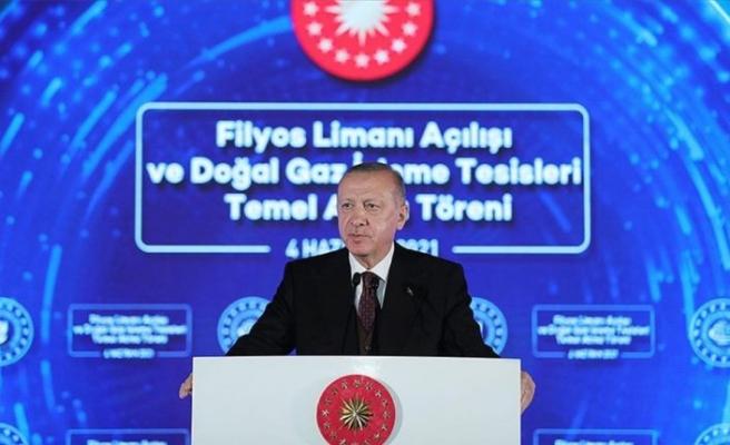 T.C Cumhurbaşkanı Erdoğan: Amasra -1 kuyusunda 135 milyar metreküplük yeni bir doğal gaz keşfi daha yapıldı