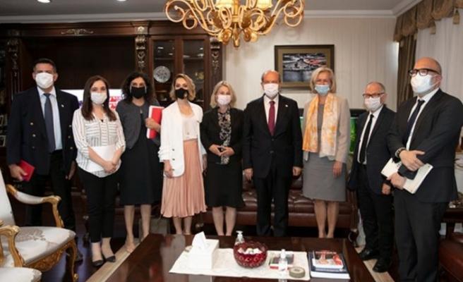 Cumhurbaşkanı Tatar, EEAS Direktörü Eıchhorst ve heyetini kabul etti