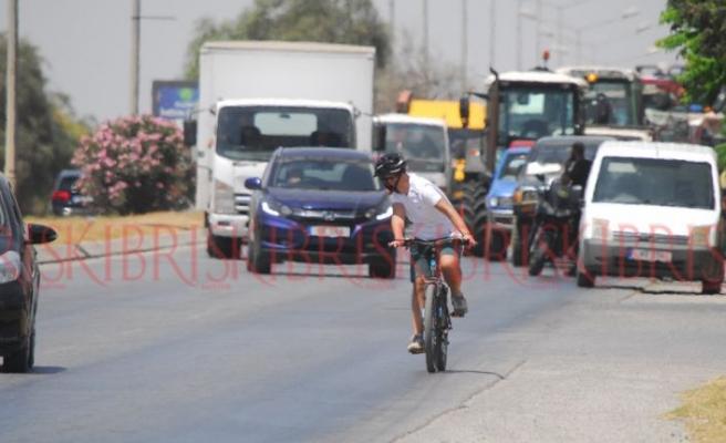 Trafikte bisikletliye saygı yok