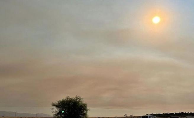 Antalya'daki yangın KKTC'de hava kirliliği yarattı