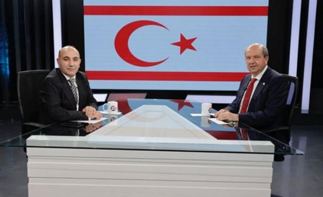 Cumhurbaşkanı Tatar, Elazığ'da televizyon kanallarında değerlendirmelerde bulundu