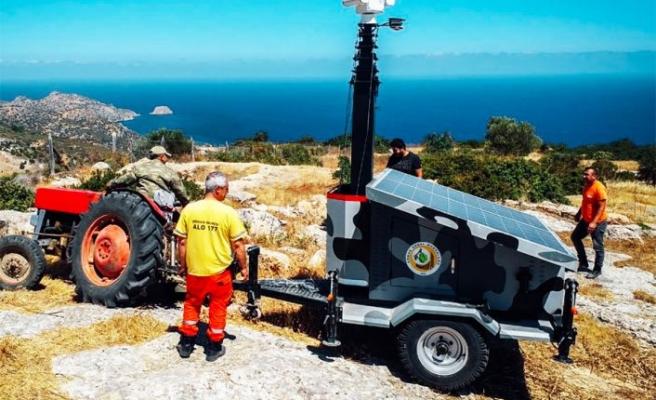 Hibe 5 Mobil kamera ve güneş panelleri orman alanlarına kuruldu