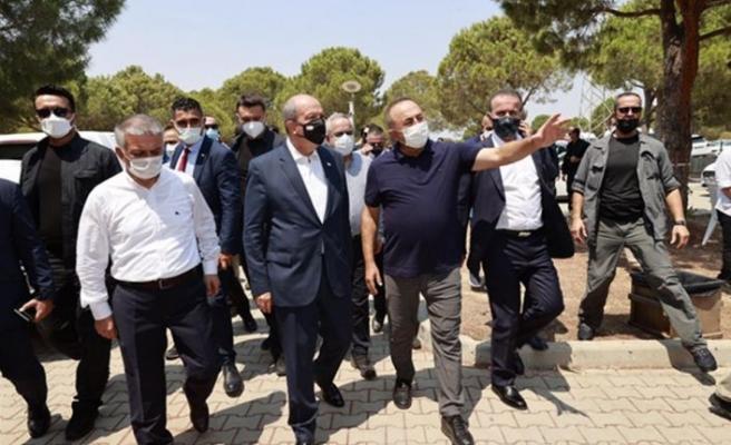 Cumhurbaşkanı Tatar, Antalya'da Yangın Yönetim Merkezi'ni ziyaret etti
