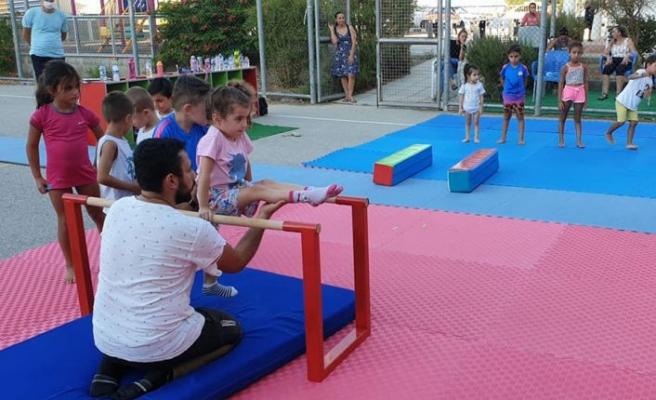 Lefkoşa'da cimnastik eğitimi