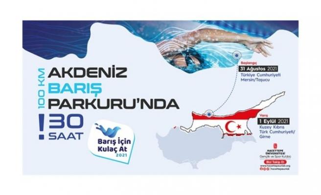 Yüzücüler, Taşucu'ndan Girne'ye barış için yüzecek