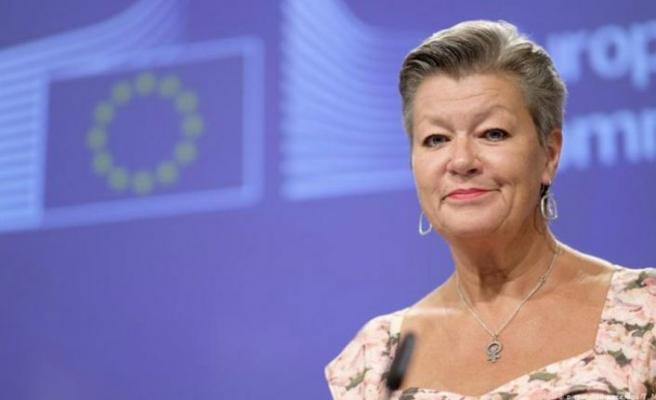 Avrupa Birliği İçişleri Komiseri Ylva Johansson Güney Kıbrıs'ta