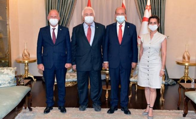 Cumhurbaşkanı Tatar, Kazakistan eski milletvekili Ahmet'i kabul etti