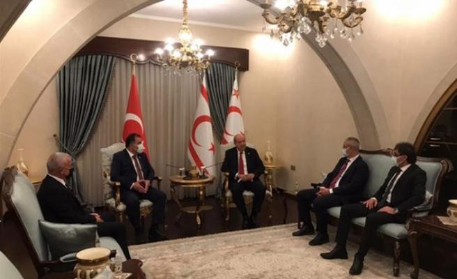 UBP'nin 46. kuruluş yıl dönümü Cumhurbaşkanı Tatar UBP Genel Başkanı Saner'i kabul etti