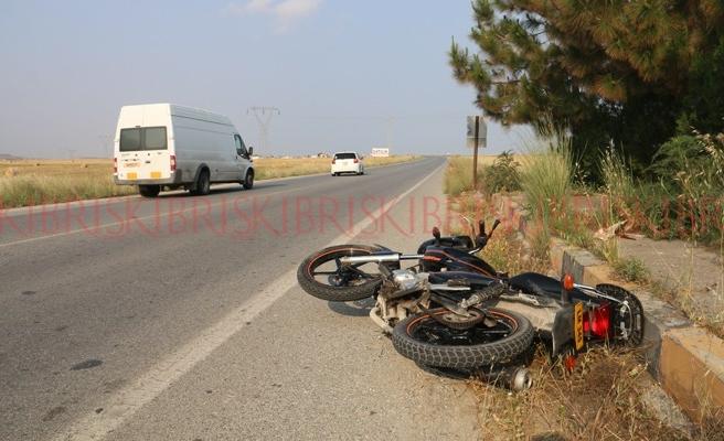 Motosikletli yaralandı