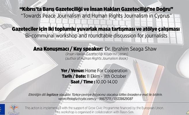 Akademisyen ve gazeteciler için 'Barış ve İnsan Hakları Gazeteciliği' atölye çalışması