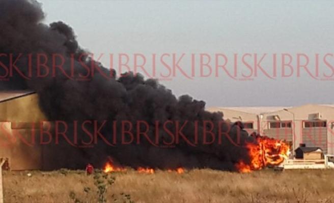Alayköy Sanayi Bölgesi'nde yangın çıktı