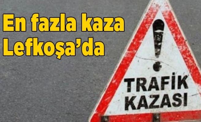 En fazla kaza Lefkoşa'da oldu
