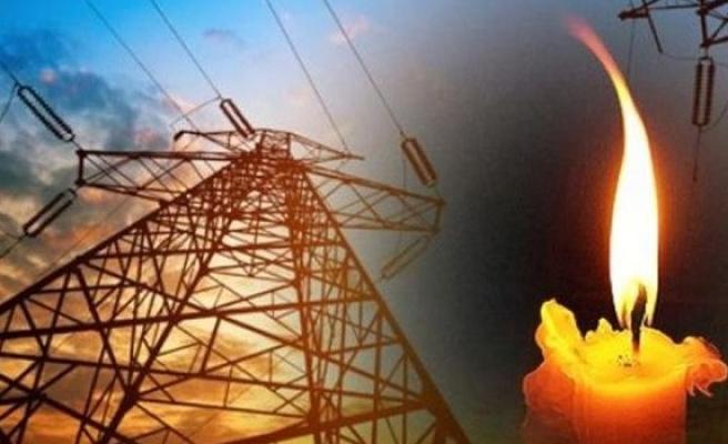 Lapta'da elektrik  kesintisi