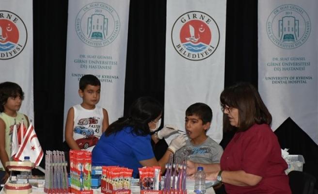 Girne'de çocuklar için ağız ve diş tarama çalışması başlatıldı