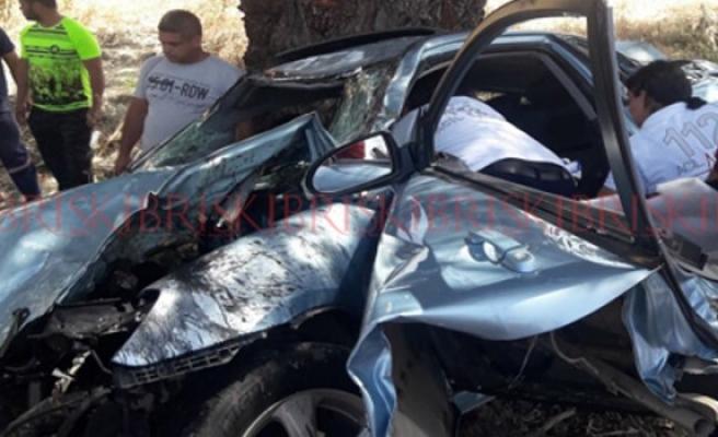 Haspolat'ta feci kaza: 1'i çocuk 2 yaralı