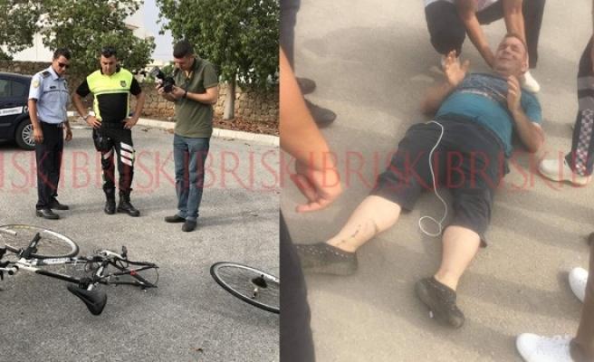 Bisikletlinin köprücük kemiği kırıldı