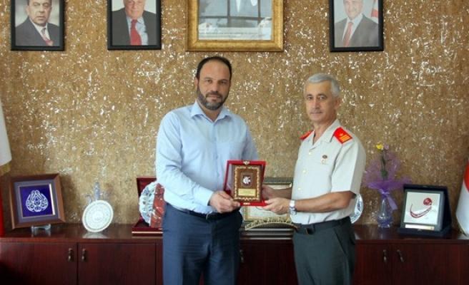 Tuğgeneral Algan'dan Sadıkoğlu'na ziyaret