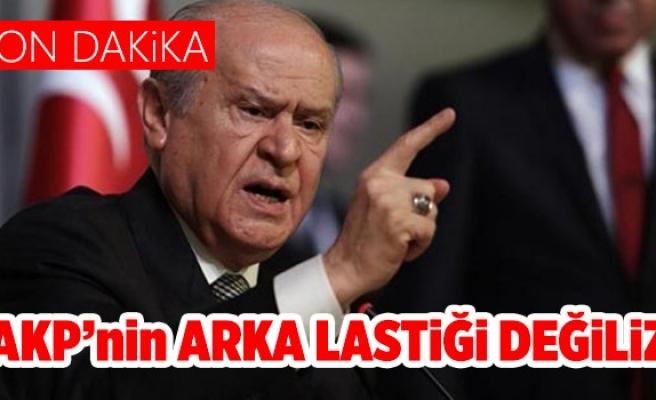 Bahçeli: AK Parti'nin arka lastiği değiliz
