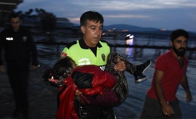 Bodrum'da mülteci teknesi battı: 2 çocuk yaşamını yitirdi