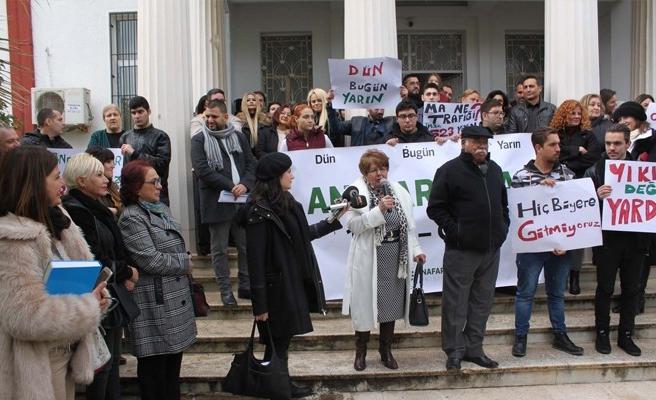 Girne Anafartalar Lisesi'nde eylem