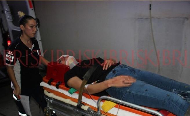 Girne'de korkutan kaza: İki araç çarpıştı, 7 kişi yaralandı