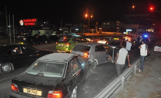 Hamitköy'de korkutan kaza