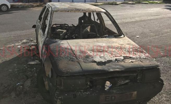Mağusa'da araç yangını